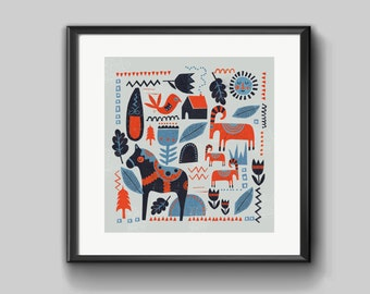 Scandinavian design limited edition print