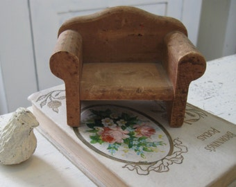 Vintage Doll Chair Wooden Miniature Chair Vintage Collectible Doll Furniture Display Prop Vintage Home Decor