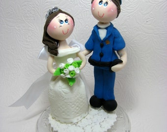 police couple wedding cake toppers present toppers etsy 18669