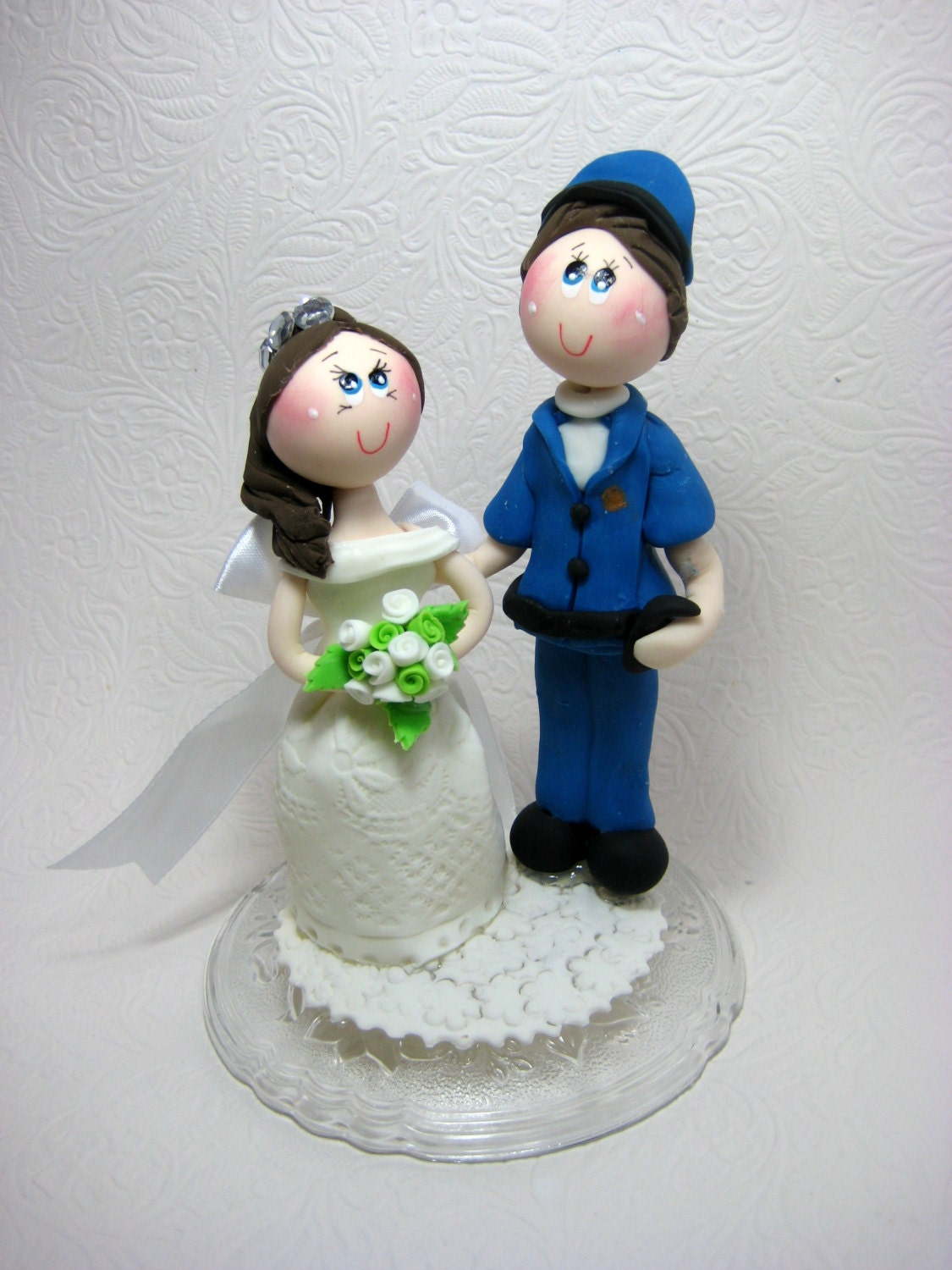 Custom wedding cake topper Funny wedding cake topper Police