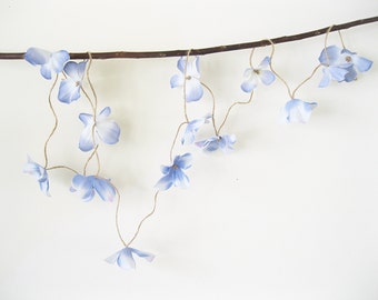 Hydrangea Garland | Beach Wedding Garland | Wedding Flower Garland | Rustic Wedding Garland | Floral Garland