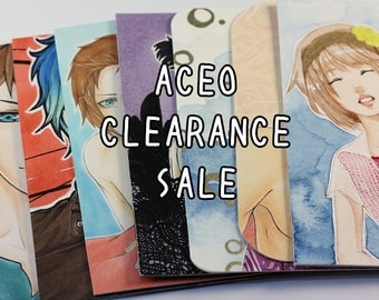 CLEARANCE Simple Drawings, Manga ATC, Sketch Doodles, Anime Artwork, Sale, Hand Drawn ACEO, Unique Illustrations