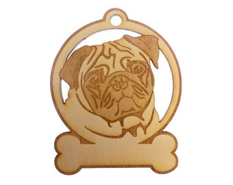 Pug Ornament - Pug Gifts - Pug Art - Pug Lover - Pug Memorial - Pug Ornaments - Pug Gift - Personalized Free