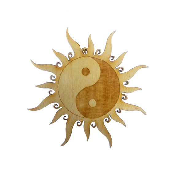Yin yang ornament yin yang decoration yin yang gift yin for Decoration murale yin yang