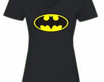 Batman V-Neck 2xl Women's T-shirt