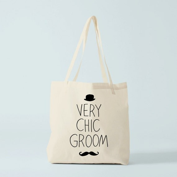 tote bag groom moustache sac mariage cadeau par bambouchicparis. Black Bedroom Furniture Sets. Home Design Ideas
