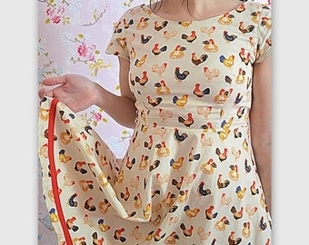Roosters & Chickens dress