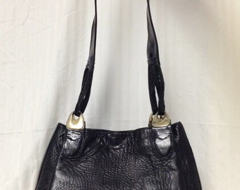 Virginia's USA ,Black Leather Purse,shoulder bag,black,leather,bag,purse