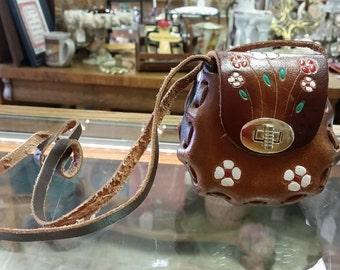 Vintage Mini Hand Tooled Leather Childs Purse
