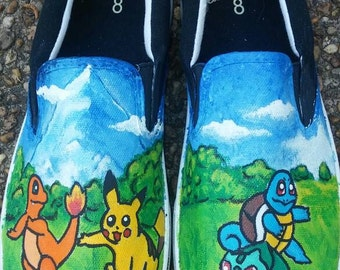 Handpainted Pokemon Shoes