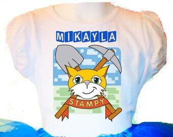 Mr. STAMPY Cat Girl T-Shirt 2T,3T,4,5,6,7,8,9,10,11,12