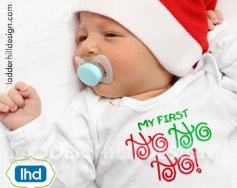 My First HO HO HO Christmas Embroidery Design chr020