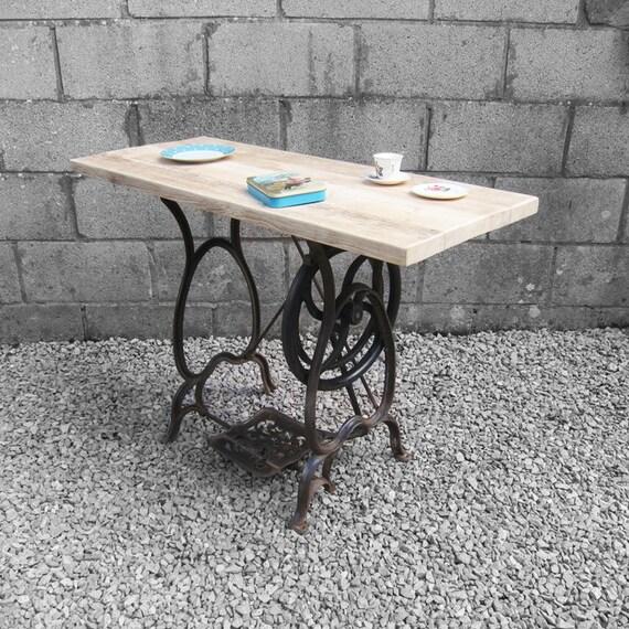 Vintage Rustic Industrial Pine Scaffold Sideboard Hall Table