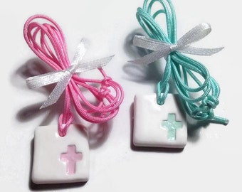 Cross Charms, Baptism Favors, Baby Shower Favors, Witness Pins, Baptism Favours, Cross Favors, Adjustable Necklace Packs of 20, 40, 60