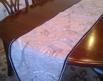 Map of Paris Table Runner