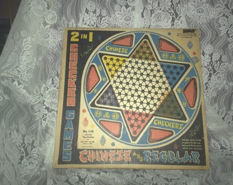 Vintage Ohio Art 2 in 1 Chinese Checkers