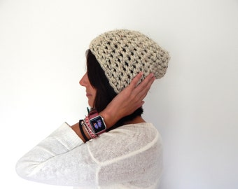 Ready to Ship Chunky Knit Hat - Wool Knit Hat - Chunky Crochet Beanie - THE CLAIRE - Winter Ski Hat