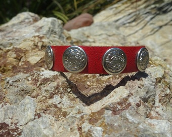 red leather cuff/upcycled leather cuff bracelet/womans girls bracelet/leather jewelry/womans jewelry/accessories/leather bangle/boho C129