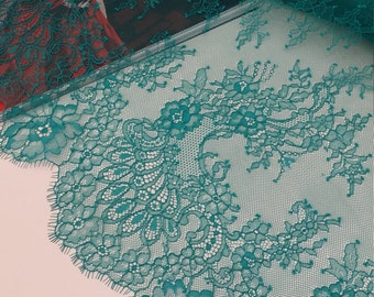 Ivory lace fabric chantilly lace french lace bridal lace - Chantilly telas ...