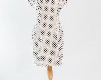 Vintage 1980s polka dotted sailor dress (Size 12 Aust / 8 USA / 12 UK)