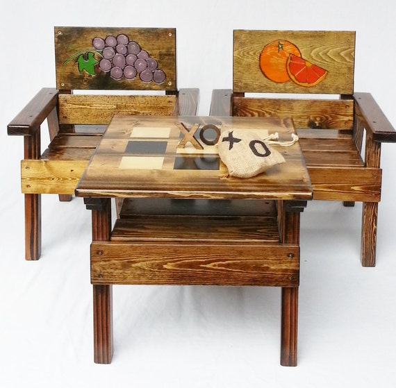 Kids Activity Game Table and Chair Set by HappyChairsandMore