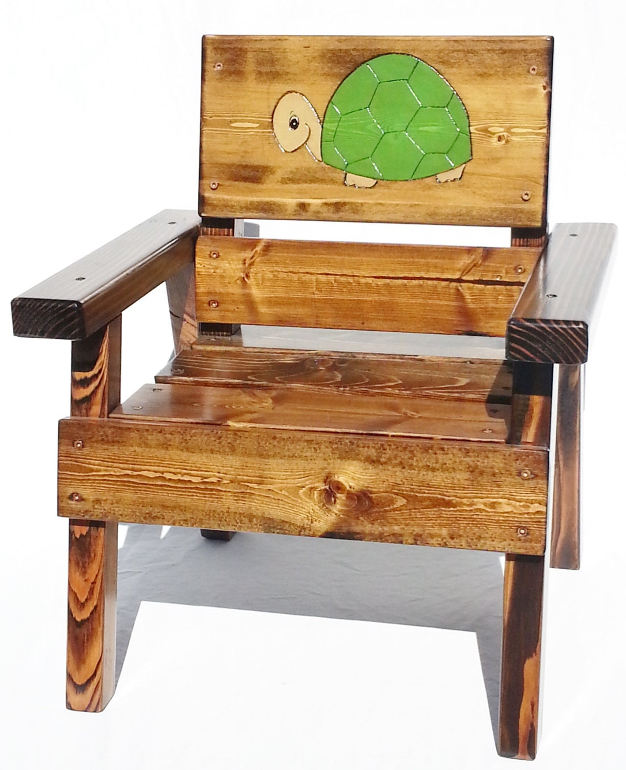 Kids Outdoor Furniture Turtle Chair Wood Kids Chair Painted
