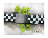 Canvas belt - black and white belt - unisex belt -casual belt - men's accessories -  # 130