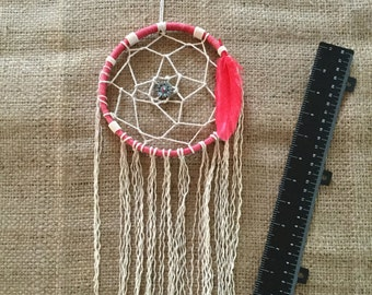 Dreamcatcher, red, wall hanging