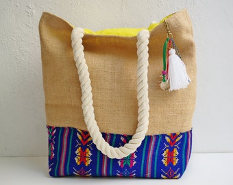 Colorful mexican beach bags & unique welcome bags by LaPasoBien