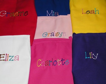 BACK TO SCHOOl Personalized Preschool Toddler K-6 Child Kids Boys Girls Art Painting Party Aprons