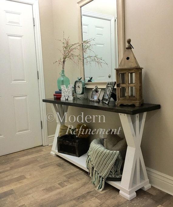 the aubrey rustic farmhouse entryway table farmhouse table