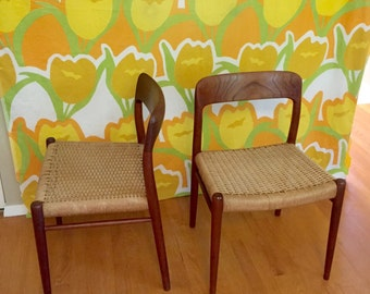 JL Moller #75 Chairs / Niels O. Moller / LOCAL Pick Up Only / Price is for Both Chairs /
