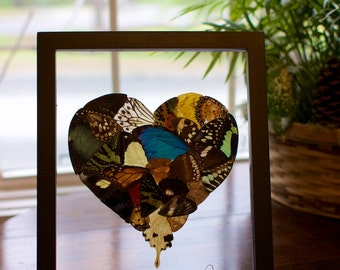 8x10 Butterfly Wing Heart