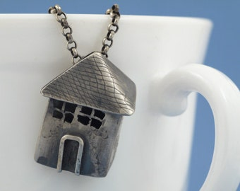 House of silver sterling necklace pendant