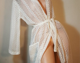 FREE  SHIPPING   1960 Lace Beach Cover  Up