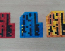 Doom Keycard Bead Sprites. All 3 available Red, Blue and Yellow  Retro!!!