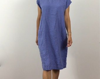 Linen Tunic / T-Shirt Dress / Ready Made / Size Small