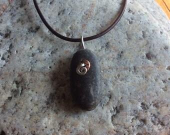 Beach stone pendant