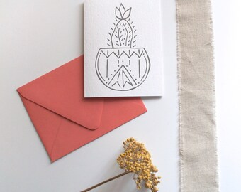 Cactus Card, Everyday Greeting Card, Housewarming Card, Boho Cactus Card, Southwestern Greeting Card