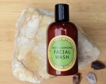 Organic Facial Wash for Combination & Oily Skin- Travel Size   Deep Cleanser   Vegan Acne Face Soap   Tween Gift  2.5 oz