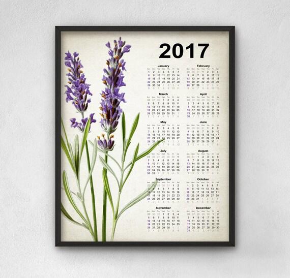 fleur de lavande calendrier 2017 d cor de fleur de lavande. Black Bedroom Furniture Sets. Home Design Ideas