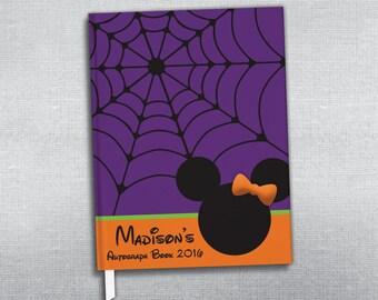 Halloween Disney autograph book. Personalized journal.