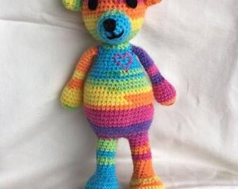 Rainbow Heart Teddy