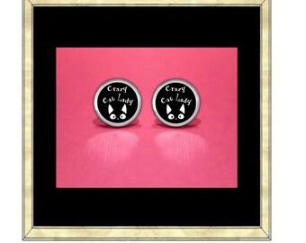 Crazy Cat Lady Earrings - Silver Plated Earrings