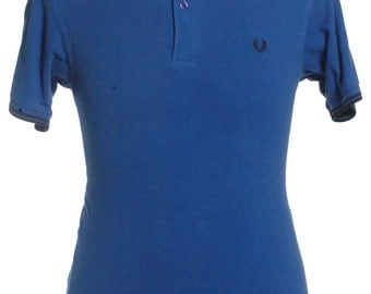 Vintage Fred Perry Blue Polo Shirt S - www.brickvintage.com