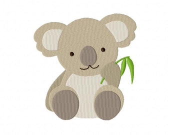 Baby Koala Machine Embroidery Design Multiple Formats Available - Instant Download