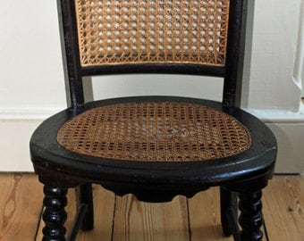 Antique Victorian Chid's Chair with Woven Cane Seat