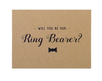 Kraft Ring Bearer Card ~ Rustic Ring Bearer Card ~ Ring Bearer Proposal ~ Ask Ring Bearer