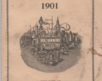 Ayer's American Almanac 1901, Lowell, Massachusetts, fair shape, Patent Medicines, Ayer's Sarsaparilla
