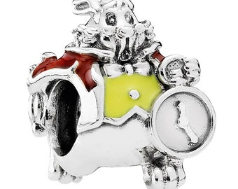 White Rabbit Charm of Alice's adventures in Wonderland For Pandora Bracelet